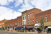 Small Town Main Street — Stock Photo