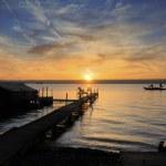 Sunrise on the Lake — Stock Photo
