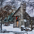 Snowy Winter Log Cabin — Stock Photo #39007381