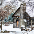Snowy Winter Log Cabin — Stock Photo #39007611