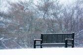 Panchina nevoso — Foto Stock