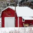 Winter Farm Scene — Stock Photo