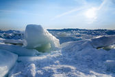 Lake Erie Ice Sunrise — Stock Photo