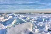 Lake Erie Ice — Stock Photo