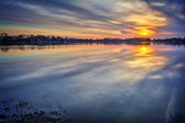River Sunrise — Stock Photo