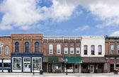 Small Town Main Street  — Stock Photo