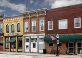 Small Town Main Street Shops — Stockfoto