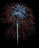 Red White and Blue Fireworks Isolated — Stock Photo