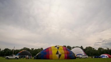 Time Lapse Hot Air Balloon Inflation — Video Stock