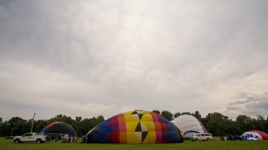 Time Lapse Hot Air Balloon Inflation — Wideo stockowe