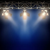 Backstage spotlights. — Stock Photo