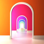 Archway to the colorful future. — Stock Photo