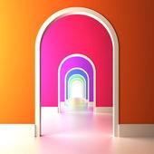 Arco colorido al futuro. — Foto de Stock