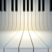 Boş yüzeyden piyano tuşları — Stok fotoğraf