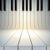 Surface vierge de touches du piano — Photo