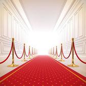 Chemin de tapis rouge à la lumière de la réussite. — Photo