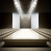 Fashion empty runway. — 图库照片