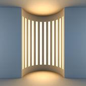 Witte lege niche met achtergrondverlichting. — Stockfoto