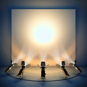 Empty background with stage spotlight. — Stok fotoğraf