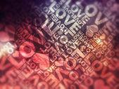 Love blurred typographic texture — Stock Photo