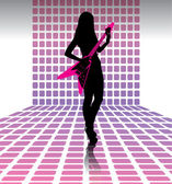 Sexy woman guitarist — Stock Vector