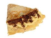 バナナとチョコレートをパンケーキします。 — ストック写真
