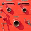 Old vintage fire engine detail - Stock Photo