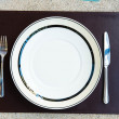 Dinner set with fork and knife — Foto de Stock