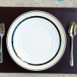 Foto de Stock  : Dinner set with fork and knife