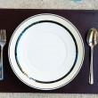 ストック写真: Dinner set with fork and knife