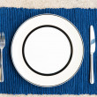 Dinner set with fork and knife — Stockfoto #12696729