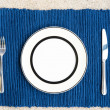 Dinner set with fork and knife — Stock Photo