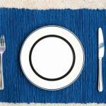 middag med gaffel och kniv — Stockfoto