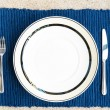 Stock Photo: Dinner set with fork and knife