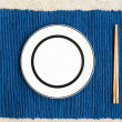 General dinner and lunch set with chop stick — Stock Photo