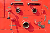 Old vintage fire engine detail — Stock Photo