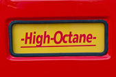 High Octane sign at classic fuel pump — Stock Photo