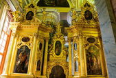 Golden church wall decoration — Stock Photo