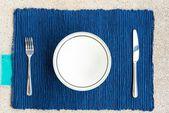 Cena con tenedor y cuchillo — Foto de Stock