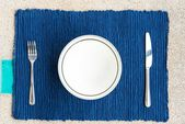 Dinner set with fork and knife — Stock fotografie