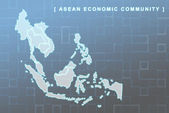 South East Asia countries that will be member of AEC — Stock Photo