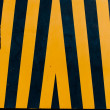 Black and yellow warning pattern — Stock Photo