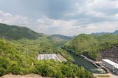 Large hydro electric dam in Thailand — Stock Photo