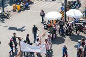 Bangkok - 2 şubat: kalabalık bir tayland'ın protesto — Stok fotoğraf