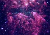 Sterren veld in de ruimte en een nevels — Stockfoto