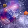Far-out planets in a space — Stock Photo