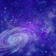 Stock Photo: Far away spiral galaxy
