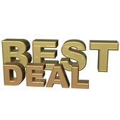 Three-dimensional inscription best deal — Stock Photo