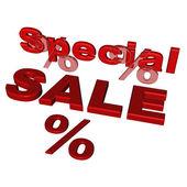Trojrozměrný nápis prodej — Stock fotografie