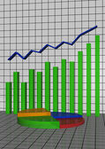 The schedule the histogram showing lifting — Stock Photo